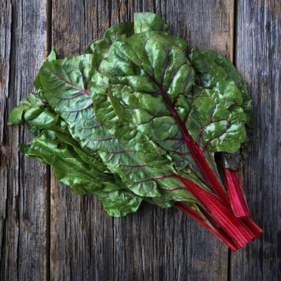 how to cut red swiss chard